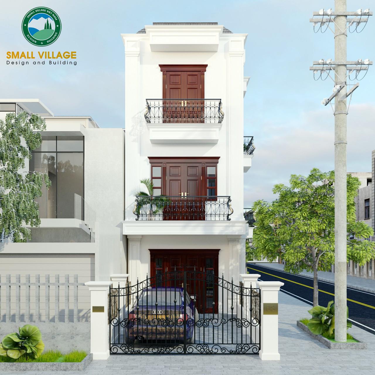 Thiết Kế Nhà Ninh Bình với kiến trúc nhà phố hiện đại 4 tầng 5x15m đẹp, nhiều cửa sổ